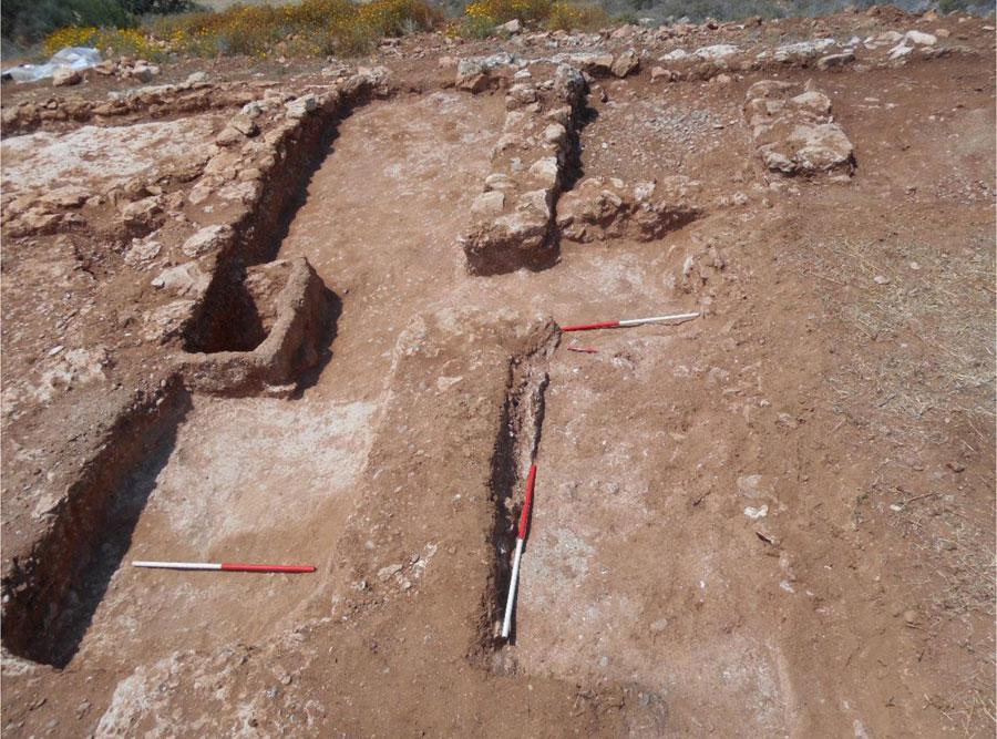 4. bölgedeki kazının bir bölümü