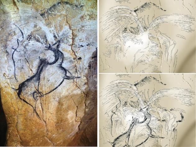 """İlk Volkanik Patlama Çizimi """"Chauvet"""" Mağarasında Bulundu"""