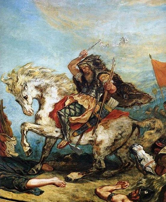 'Attila ve onun ordusunun İtalya ve Sanatın üstünden geçerken ' (1847) Eugène Delacroix
