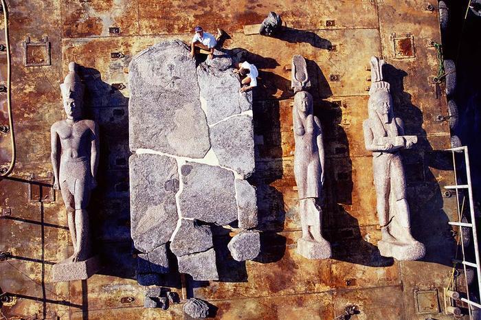 firavun heykelleri
