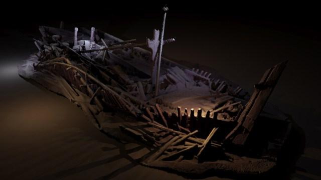 Keşif sırasında 18-19. yüzyıla ait bir Osmanlı Türk gemisi bulundu.