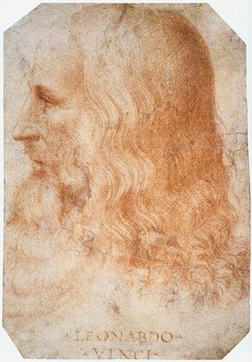 Francesco Melzi tarafından Leonardo da Vinci'nin portresi (yaklaşık olarak 1510)