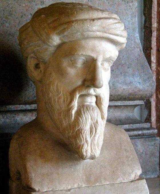 Pisagor'un Büstü – Grek orijinalinin Roma kopyası Musei Capitolini Müzesi, Roma, İtalya
