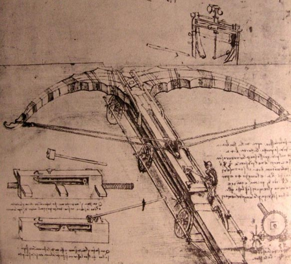 Dev arbalaetin tasarımı, Leonardo da Vinci