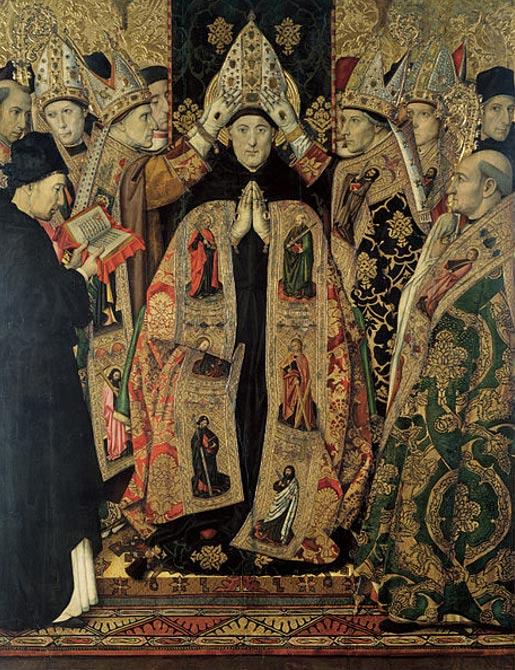 Jaume Huguet tarafından, Aziz Agustinus'un Kutsanışı (yaklaşık olarak 1463-1470/1475)