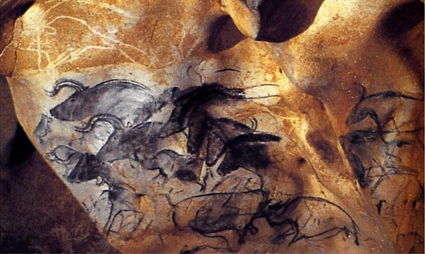 Chauvet Mağarası, Fransa 30.000 yıl önce duvar resimleri