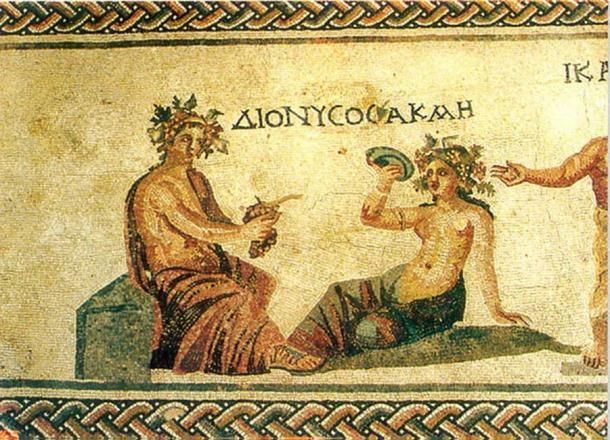 Paphos antik kentinin yakınlarında keşfedilen, Şarap Tanrısı Dionysus'u tasvir eden Helenistik mozaik