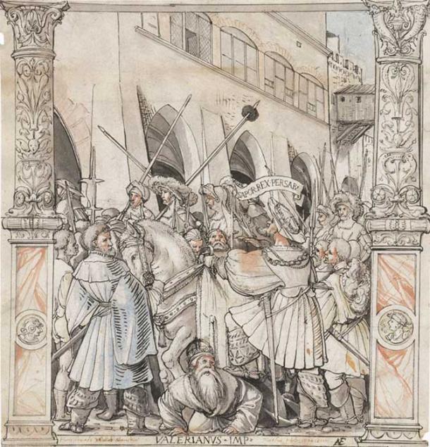 İmparator Valerian'ın Pers Kralı Shapur tarafından esir alınması