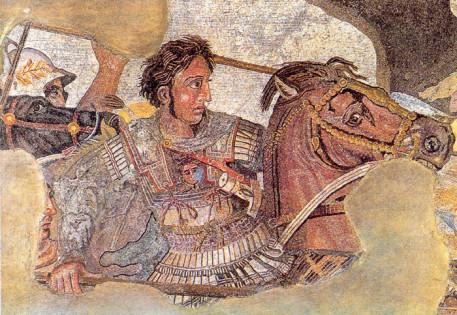 Büyük İskender'in Popeii mozaiklerinde tasviri