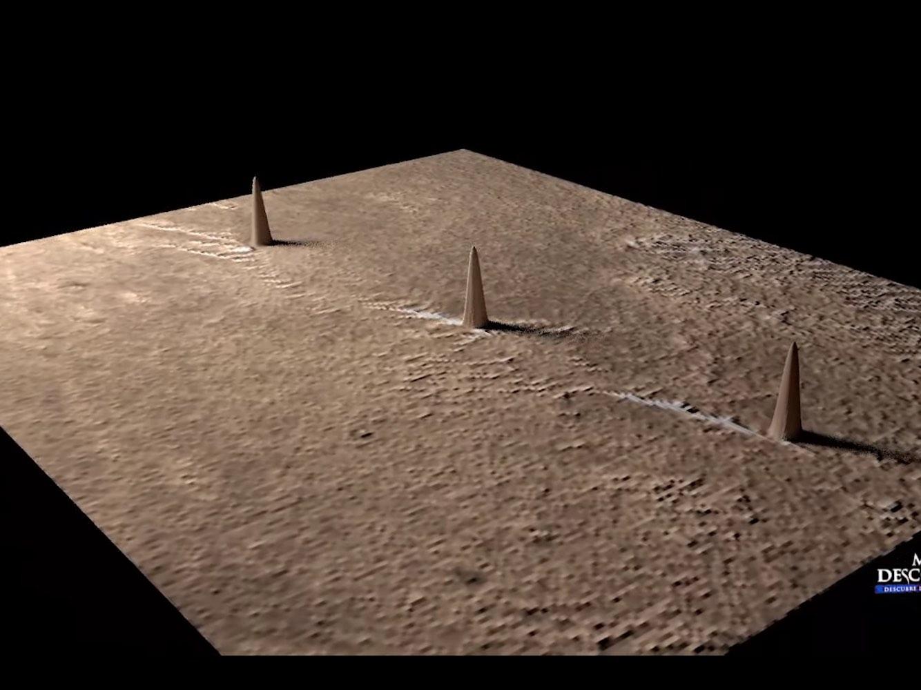 Mısır'daki Giza Piramitleri'nin Benzeri Mars'da Bulundu