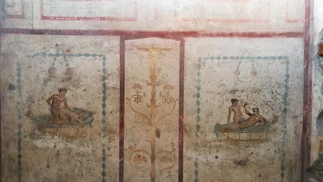 Küçük Lupanare'den erotik freskler