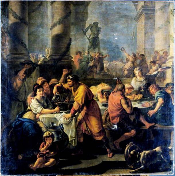 Fransız ressam Antoine Callet'ın 1783 tarihli Saturnalia tasviri