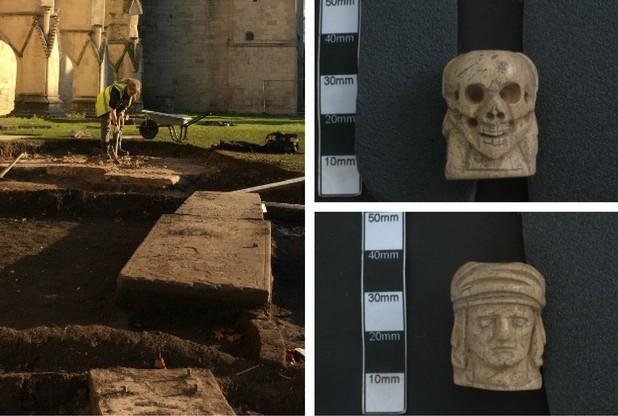 Gloucester Katedrali'nde Bulunan 'Roma' Paraları ve 500 Yıllık Eşsiz Boncuklar