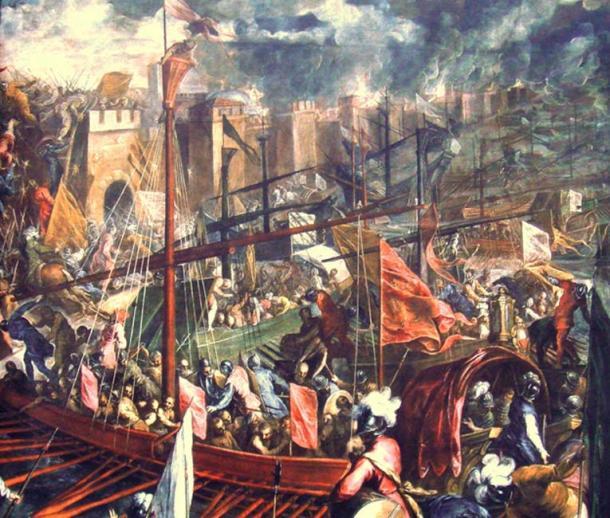 1204'teki Dördüncü Haçlı Seferi sırasında Bizans'ın ele geçirilmesi