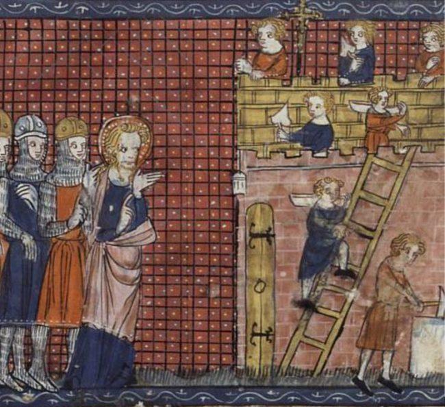 Terni'deki Aziz Valentine ve öğrencileri. Paris, 14. yüzyıl