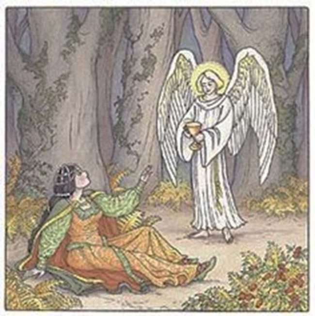 Aziz Dwynwen bir melekle karşılaşıyor